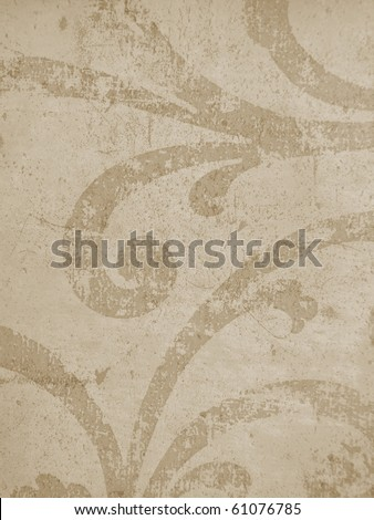 elegant background texture paper parchment concrete close up islamic arabic oriental roman  decorative grunge grungy scratched swirl brown vintage. More decors in my port.