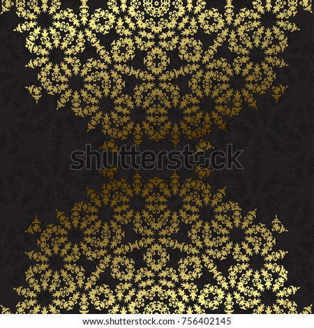 Elegant background with lace ornament and place for text. Floral elements, ornate background