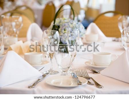 Elegant banquet wedding table setting