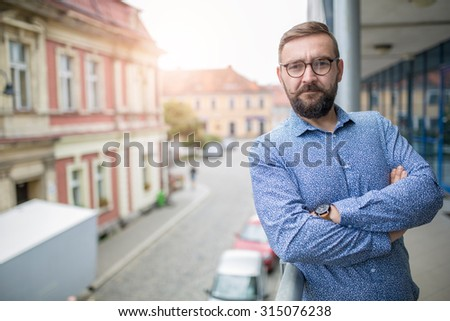 elegant bearded fashion man...