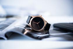 Elegant business men fashion no brand wrist watch, men fashion a