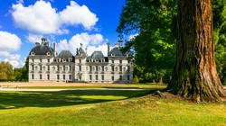 Elegant Cheverny castle, most well preserved castle in Loire val