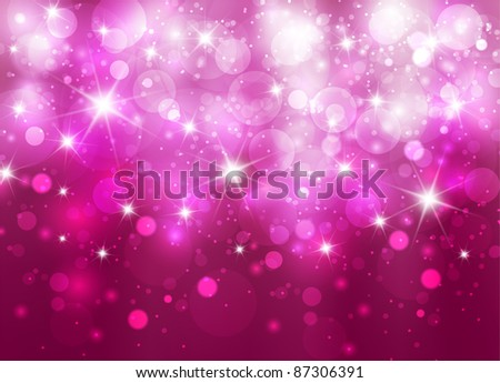 Elegant christmas background with bokehs and stars