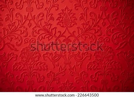 elegant christmas cherry red baroque repeating flower