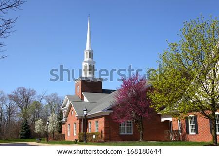 Elegant Church building in spring time #168180644