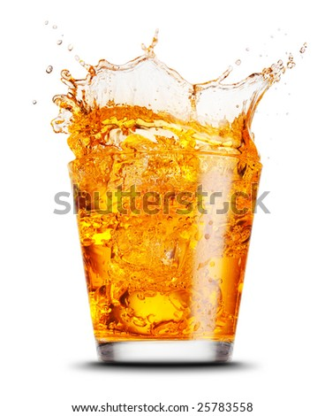 elegant cocktail glass isolated on white background #25783558