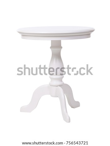 Elegant coffee table isolated over white, with clipping path