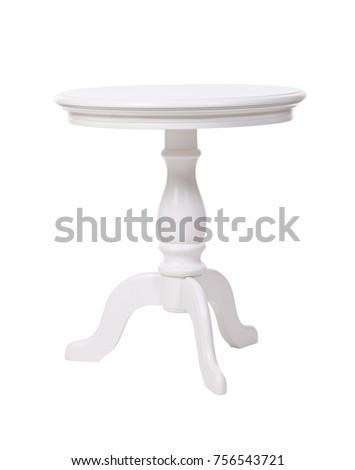 elegant coffee table isolated...