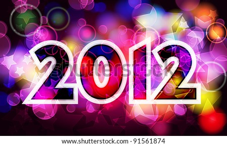 Elegant, colorful New Year's illustration #91561874