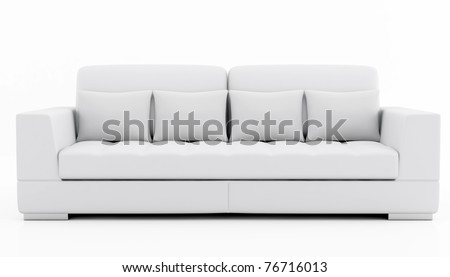 elegant couch isolated on white - rendering