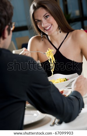 Elegant Couple at The Restaurant