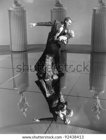 elegant couple dancing together