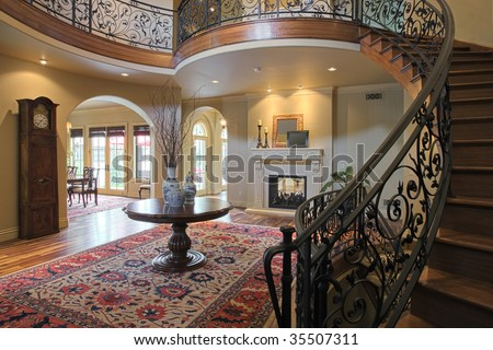 stock photo : Elegant Curved Staircase