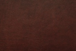 Elegant dark brown leatherette background. Dermantin texture. Free space for text.