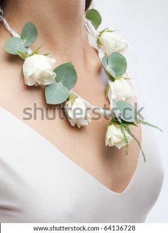 stock photo elegant floral wedding decoration made of roses and leaves
