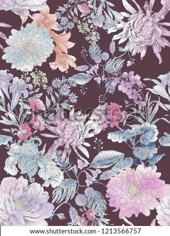 Elegant flowers, elegant posture,