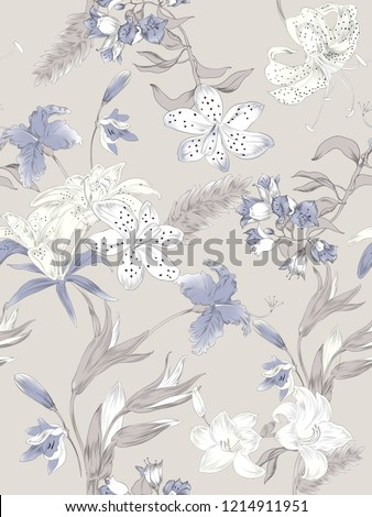 Elegant flowers, elegant posture,Brown background,