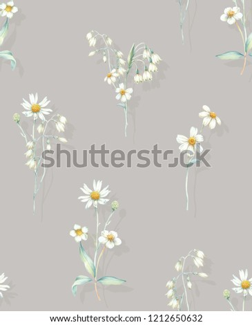 Elegant flowers, elegant posture,Brown background,daisy
