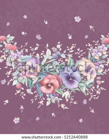 Elegant flowers, elegant posture,dark brown background,