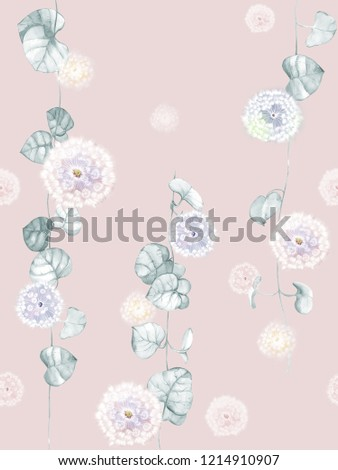 Elegant flowers, elegant posture,Pink background