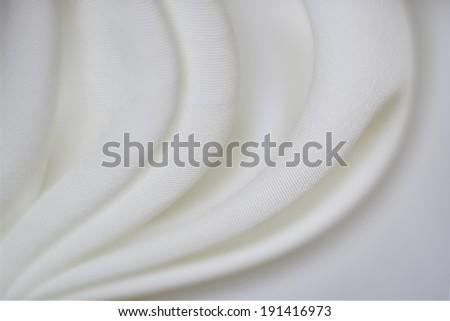Elegant folded satin close up