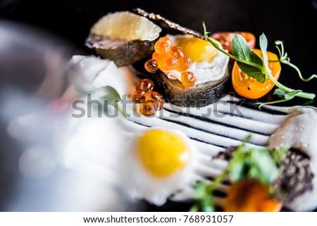 elegant food modern cuisine #768931057