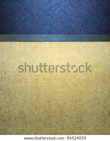 elegant formal blue and cream background with abstract vintage grunge texture details and scratch texture illustration design on border frame with copyspace