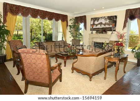 Elegant formal living room - stock photo