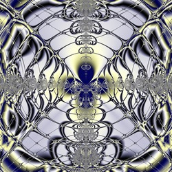 Elegant fractal design, abstract psychedelic art, purple window