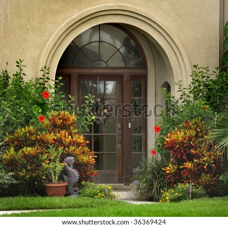 Elegant Front Doors http://www.shutterstock.com/pic-36369424/stock-photo-elegant-front-door-of-home.html