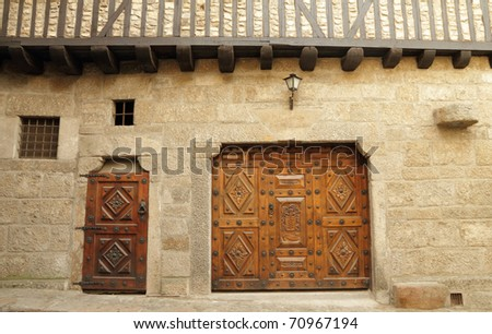 Elegant Front Doors http://www.shutterstock.com/pic-70967194/stock-photo-elegant-front-wall-with-ornamental-doors.html