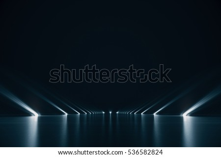 Shutterstock Elegant futuristic light and reflection with grid line background. 3D rendering.