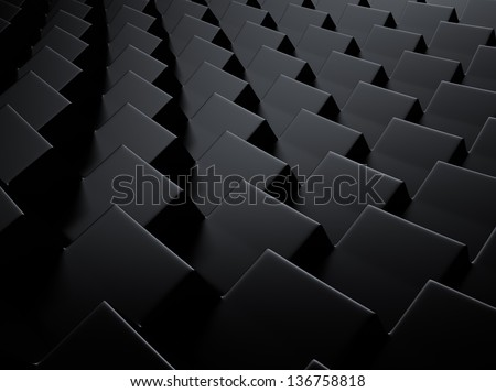 Elegant geometrical black metallic background with cubes