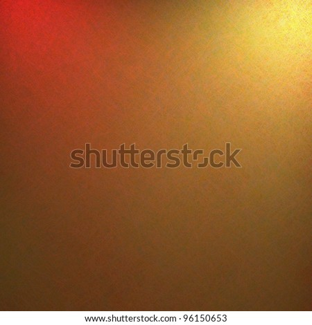 elegant gold background with abstract red spotlight and detail textured canvas with copyspace