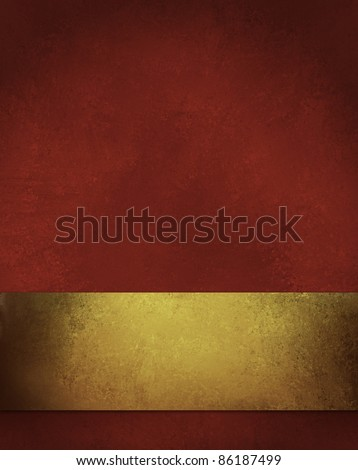 elegant gold background with elegant large burnished gold ribbon, vintage grunge texture and dark corners, copy space, rich holiday color for Christmas paper, wallpaper, sign, or web design