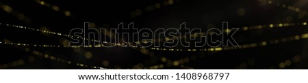 Elegant Golden Particles Background. Glitter Particles. Dust Particles Widescreen