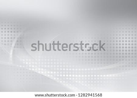 Elegant gray and white halftone pattern background. #1282941568