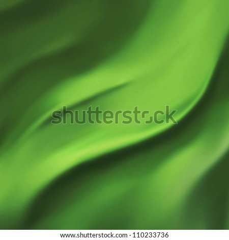 elegant green background abstract cloth or liquid wave illustration of wavy folds of silk texture satin or velvet material or green Christmas background design of elegant curves dark green material