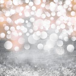 Elegant Grunge Silver, Gold, Pink Christmas Light Bokeh & Vintage Crystal Instagram Background Texture
