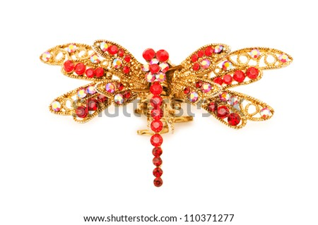 Elegant hairpin isolated on the white background