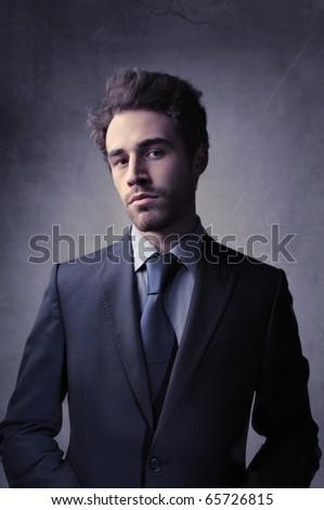 Elegant handsome businessman