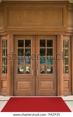 Elegant hotel oak door
