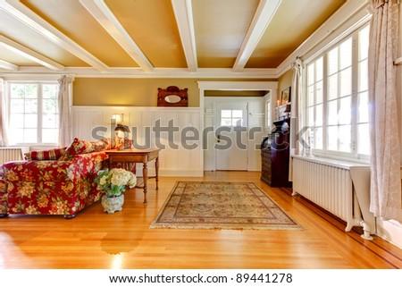 Elegant living room with elegant gold colors.