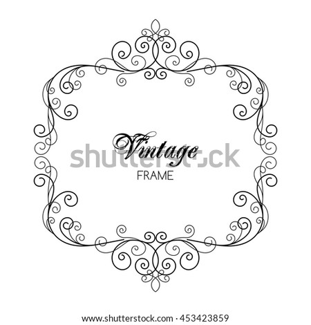 elegant luxury vintage calligraphy frame template for greeting card