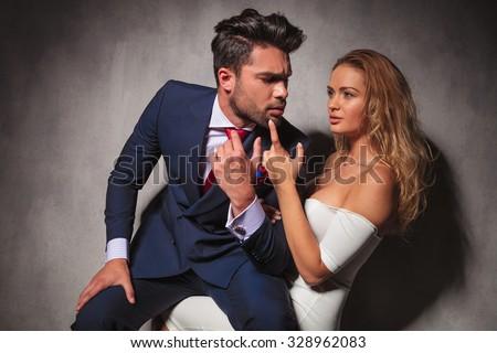 blonde on her knees oral