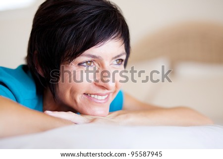 stock photo elegant middle aged woman daydreaming 95587945 Nude Female Body: photographic tips 2. The position of the model's hands in ...