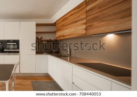 Elegant modern kitchen. Nobody inside #708440053