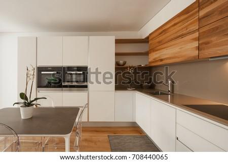 Elegant modern kitchen. Nobody inside #708440065