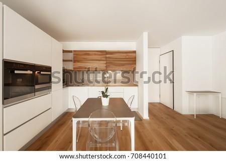 Elegant modern kitchen. Nobody inside #708440101