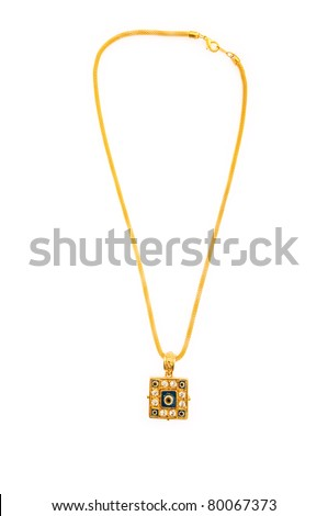 Elegant necklace isolated on the white background